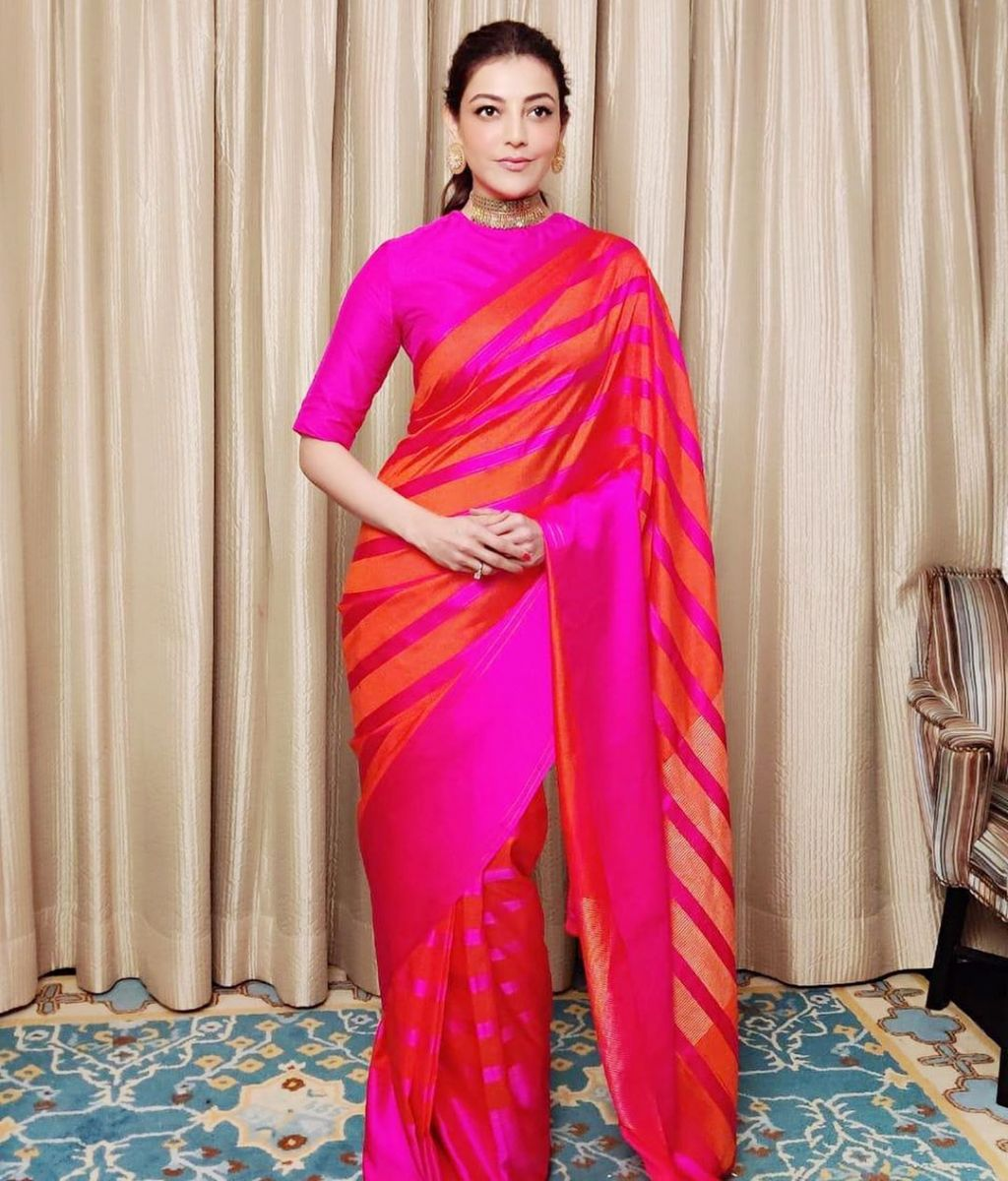 kajal-aggarwal-latest-pattu-saree1