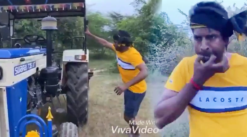 Actor soori different greetings on Farmers Day
