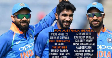 Team India name 15-man squad for Srilanka and australia match
