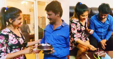 sakshi agarwal birthday surprise to cheran