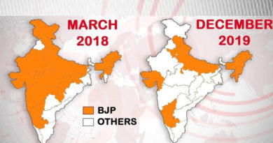 shrinking bjp footprint
