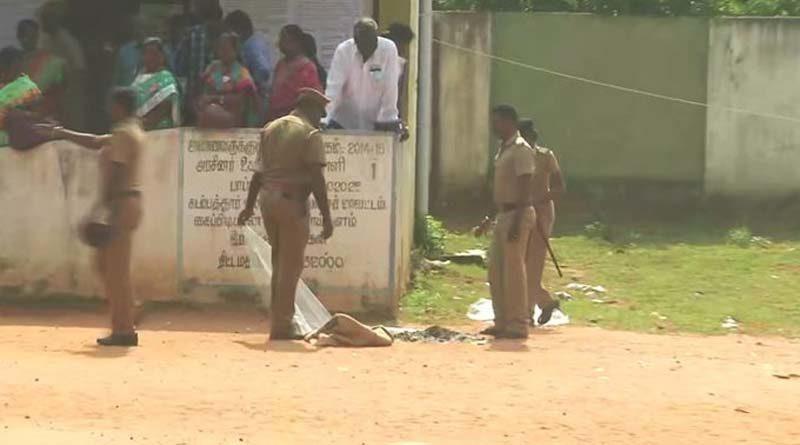 Tiruvallur district ballot box was set on fire