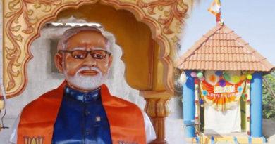 farmer build a temple for modi in trichy