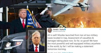 All is well-Trump says after Iran attack at US bases in Iraq