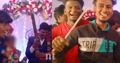 bridegroom cutting cake issue and arrested