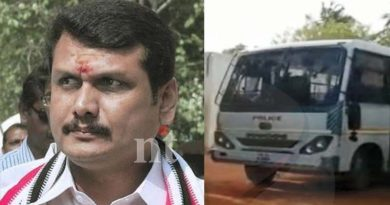 chennai police interrogates in senthil balaji house