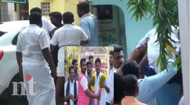 madurai union councilor escapes after takes oath