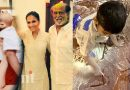 rajinikanth grand son ved playing with powder picture