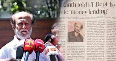 rajinikanth told it department doing money lending