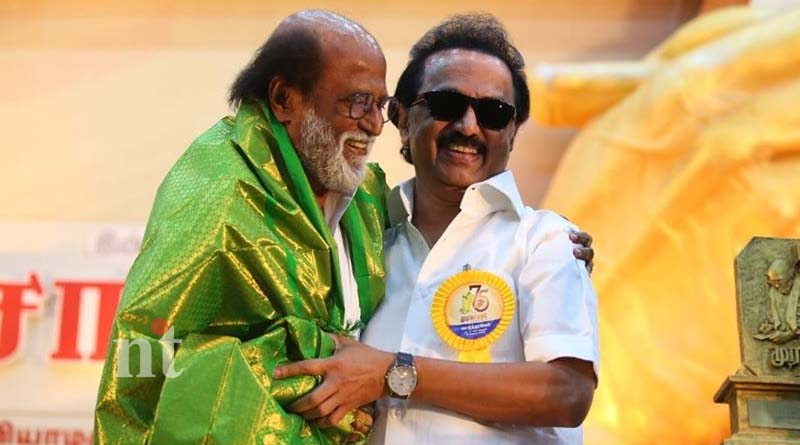 mk stalin react rajinikanth periyar issue