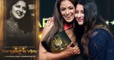 Vijay Wife sangeetha gallatta award