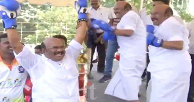 AIADMK Minister Jayakumar Boxing