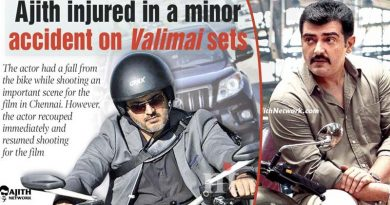 Ajith accident in Valimai shooting spot