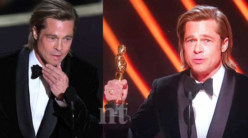 Brad Pitt wins best supporting actor Oscar for Once Upon a Time in Hollywood