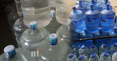 drinking water cans strike as 3rd day Risk of selling rupees 50 per cans