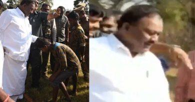 minister-dindigul-srinivasan-asks-tribal-boy-to-remove-his-slipper