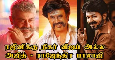 rajendra Balaji Says Rajini equal ajith not vijay