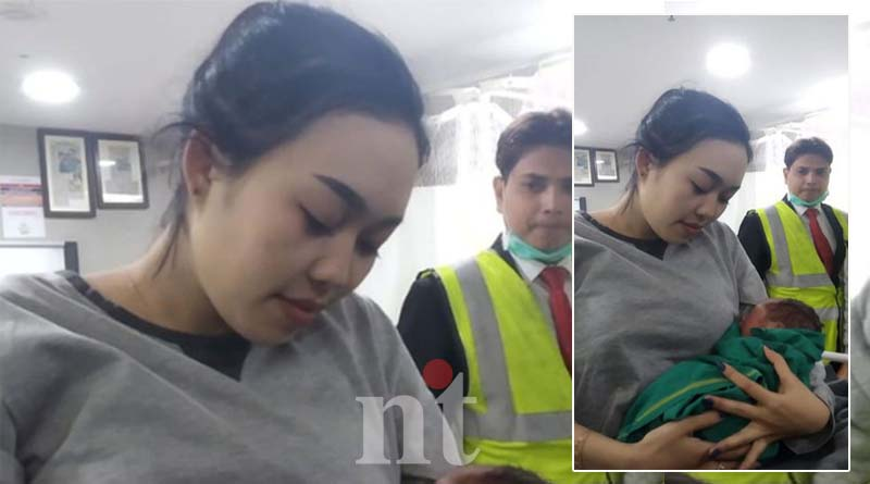 thailand national give birth during flight